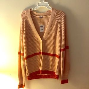 Coral and Red Cardigan